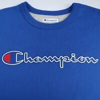 Champion Men's Spellout Crewneck Sweatshirt Pullover Blue Size Large NWOT Red