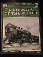 TALBOT Railways of the World: Part 12 ferrovie treni 1924 Cassell ed.