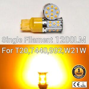 T20 7440 992 W21W 12V 35 SMD Amber LED Reverse Backup Light M1 AH MAR
