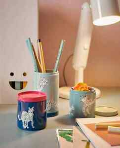 New 3Pcs Set Ikea Storage tin Canister with lid Home Office Storage Organiser UK