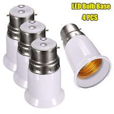 4 Lamp Light Bulb BAYONET Cap B22 to EDISON Screw E27 Adapter Converter Holder