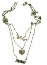 HARLEY LOVES JOKER 3 Tier Pewter Tone Pendant/Necklace By Bioworld