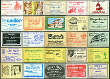 25 alte Gasthaus-Streichholzetiketten aus Deutschland #570