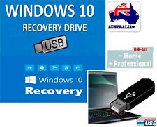 WIN 10 64 Bit System Recovery Software Disc's ON THE USB - 2018 latest! 16GB USB