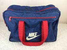 Vintage Nike Duffle Gym Bag Basketball Blue Red 70's 80's