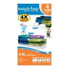 MagicBag Original Instant Space 4 XL CUBES VACUUM COMPRESSION SEAL STORAGE BAG