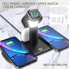 5 en 1 Cargador Inalámbrico Qi rápido 15W Muelle Soporte para Apple Watch aire vainas iPhone