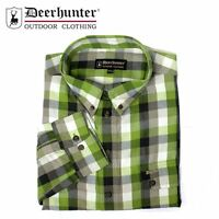 Deerhunter Malcolm Shirt - R47 Green/Cream Check Men's Country Hunting Shooting