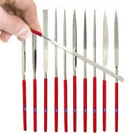 US FREE SHIPPING* New 10pc 3 x140mm Diamond Needle Files Set