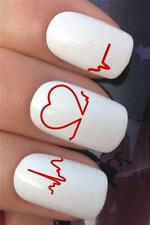 WATER NAIL TRANSFERS PREGNANCY FETAL HEART BEAT MONITOR DECALS STICKERS *348