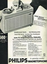 L- Publicité Advertising 1962 Magnetophone Philips EL 3514