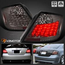 04-10 Scion tC JDM Smoked Tint LED Tail Lights Brake Lamp Pair
