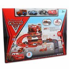 Disney Lightning McQueen Kids Car Park Garage Racing Track Boy Gift Toy