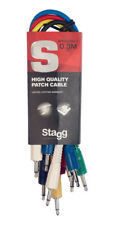 Stagg SPC030MJ E 30 cm Mono Minijack Patch Cable Set, Six Pack (NEW)