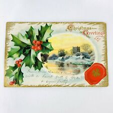 Antique Christmas Greetings Post Card Embossed Posted Dec 24 1910 Mt Sterling Ky