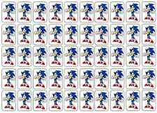 """50 Sonic the Hedgehog Envelope Seals / Labels / Stickers, 1"""" by 1.5"""""""