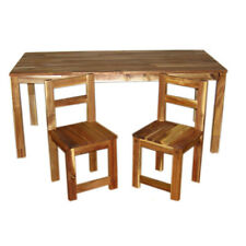 Hard wood Rectangular Children table and 2 chairs - 100% Brand New