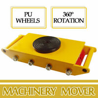 Industrial Machinery Mover w/360°Rotation Cap 26400lbs 12T Dolly Skate 8-Rollers