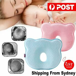 Baby Infant Newborn Memory Foam Pillow Prevent Flat Head Protect Neck Anti Roll