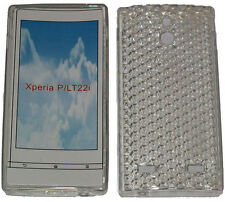 Pattern Soft Gel Case Protector Cover For Sony Xperia P LT22i LT22 Clear New UK