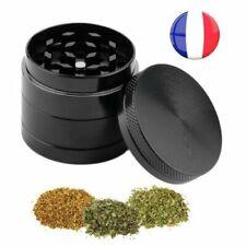 Broyeur Moulin Herbes Tabac Epices Aluminium 4 Parties Grinder avec Filtre Tamis