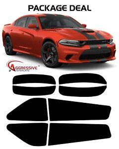 2015-2020 Dodge Charger Tail Light & Side Marker Tinted Dark Smoke Vinyl Film