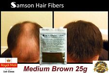 Hair Fibre Refill Bag MEDIUM BROWN Hair Loss Fiber Jar Samson Thickener Conceal