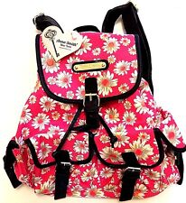 New Anna Smith Backpack Daisy Flower Rucksack Floral Girls School Pink