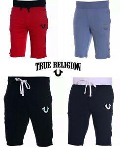 True Religion Mens Shorts Summer Soft Cotton Half Pants Sweat Shorts