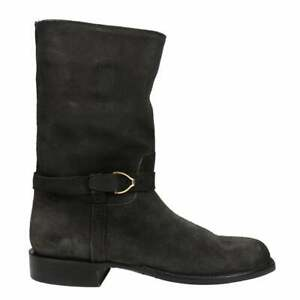 Lucchese Charcoal Oil Split Suede Round Toe Wellington  Mens  Boots   Mid Calf