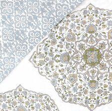 NOBLE EXCELLENCE Moroccan QUEEN DUVET COVER SET Pillow! Alana FLORAL Teal Blue