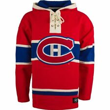 Men's Montreal Canadiens '47 Brand Heavyweight Jersey Lacer Hoodie NHL Hockey
