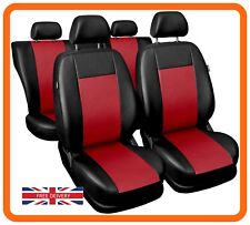 Car seat covers full set fit BMW 1 SERIES Eco-leather black/red