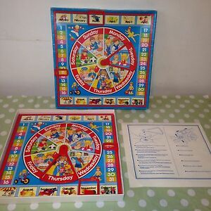 Collectable 1986 Boxed MB Children's Calendar Jigsaw Puzzle With Date Indicators