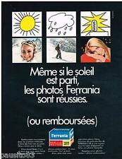 PUBLICITE ADVERTISING 105  1967  FERRANIA  les films DIA 28