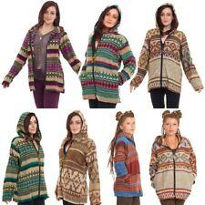 Oversize Blanket Hoodie, Scandinavian Geometric Hippy Jacket, Outsize Coat