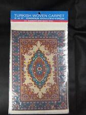 DOLLHOUSE MINIATURE TURKISH CARPET RUG IN MAROON GREEN/TAN S&C Emren Collecions