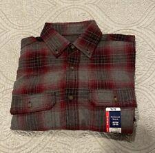 George Men's Long Sleeve Super Soft Flannel Shirt XS (30-32) Burgundy Plaid