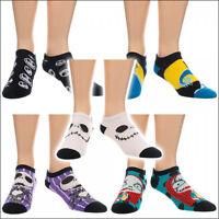 Nightmare Before Christmas Costume Ankle Socks Women Men 5 Pack Pairs OFFICIAL
