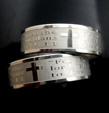 wholesale 30pcs  bible Verse Religious cross Stainless steel Rings  Jewelry lots