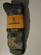 1 Pair Extra Large Browning 40% Merino Camo Heavy Hiker Boot Socks 12-15 USA