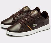 2018 Lacoste Novas CT 118 1 JD SPM ( Men Size UK 8 - 12 ) Dark Brown Leather NEW