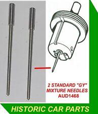 "2 STD ""GY"" NEEDLES for 1¼"" SU HS2 Carbs on Austin Morris MINI COOPER 998 1964-69"