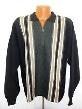 Mens Florence Tricot Wool Blend 1/2 Zip LS Sweater NWT Size Large Made in Italy