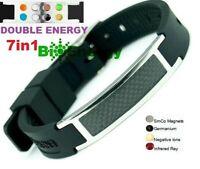 Silicone Magnetic Energy Germanium  Power Bracelet Health 7in1 Bio Armband BAND