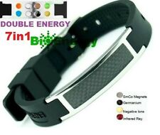 Silicone Magnetic Energy Power Bracelet Health 7in1 Bio GERMANIUM Armband BAND