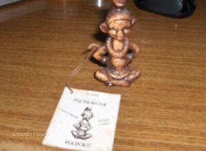 rare from 1960 good luck charm-menehune -3 inch-hawaii