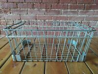 Xtra Large Industrial Metal Wire Milk Bottle Crate w/Handles Basket Farm Barn
