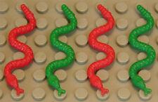 LEGO - 4 Schlangen / Schlange ( 2 x rot und 2 x grün ) / Snake / 30115 NEUWARE