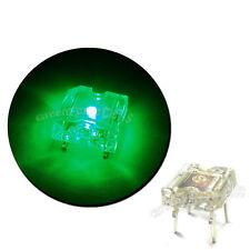 10 pcs Flat Top Piranha Super Flux DEL 8000 mcd Green